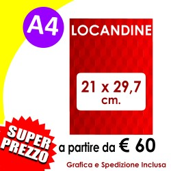 LOCANDINE A4 (21 X 29,7 cm)