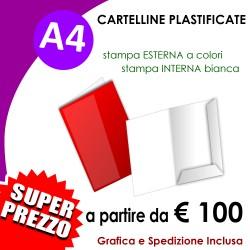 CARTELLINE A4 PLASTIFICATE