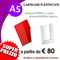 CARTELLINE A5 PLASTIFICATE
