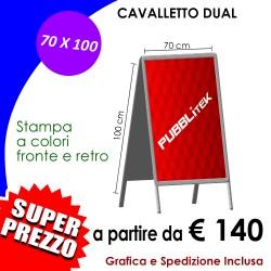 CAVALLETTO DUAL BIFACCIALE (70 X 100 cm)