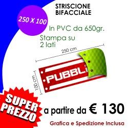 STRISCIONE 250 X 100