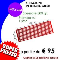 STRISCIONE MESH 300 X 100