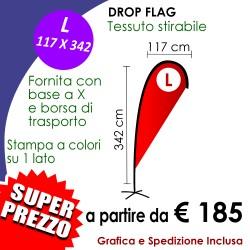 Drop flag L 117 x 342 cm