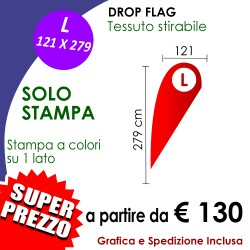 SOLO STAMPA per Drop Flag L