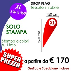 SOLO STAMPA per Drop Flag XL