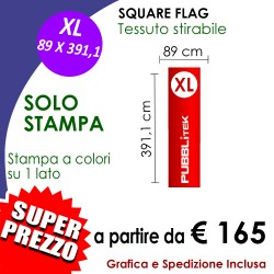 SOLO STAMPA per Square Flag XL