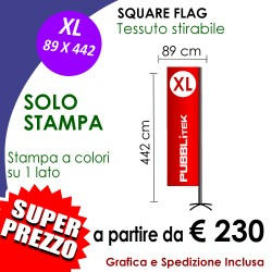 Square Flag XL 89 X 442 cm