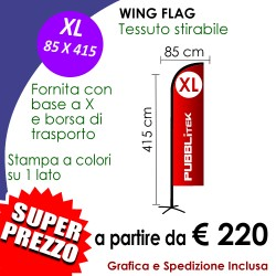 SOLO STAMPA per Wing Flag XL