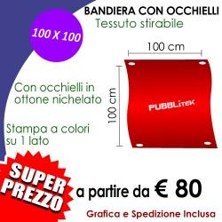 Bandiera con Occhielli 100 X 100 cm