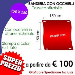 Bandiera con Occhielli 150 X 150 cm