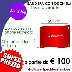 Bandiera con Occhielli 200 X 100 cm