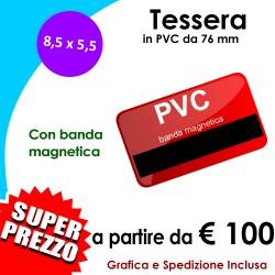 TESSERE-CARD PVC con Banda Magnetica