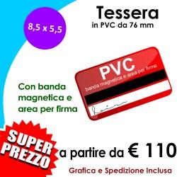 TESSERE-CARD PVC con Banda Magnetica e Area per Firma