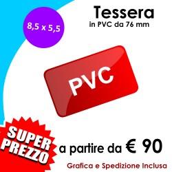 TESSERE-CARD PVC