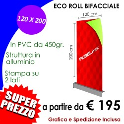 ROLL-UP BIFACCIALE (120 X 200 cm)